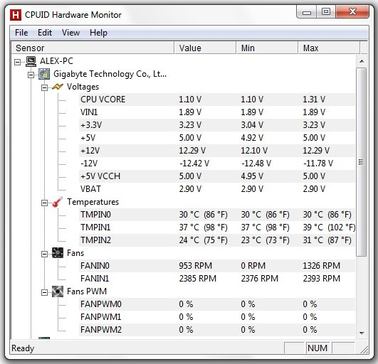Cum functioneaza utilitarul CPUID HWMonitor