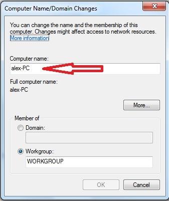Cum se schimba numele calculatorului