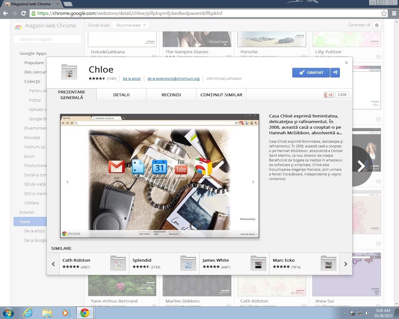 Teme pentru Googe Chrome