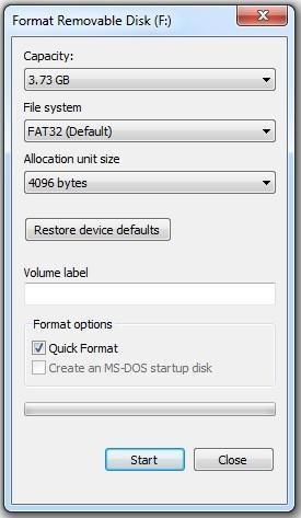 Cum formatez cardul SD