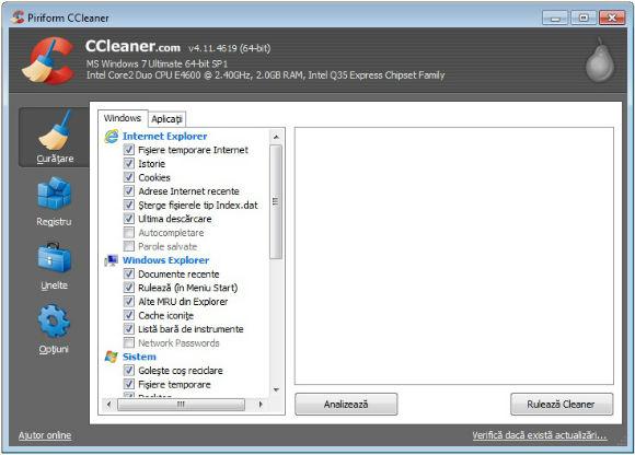 Cum se foloseste CCleaner