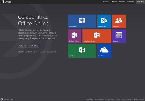 Microsoft Office gratuit - versiunea online aplicatiilor de birou