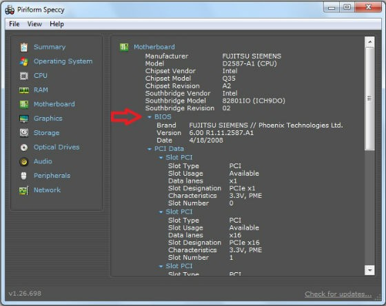 Cum aflu ce versiune de BIOS am