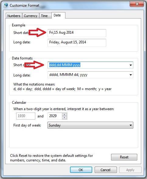 Cum fac ceasul Windows sa afiseze ziua saptamanii