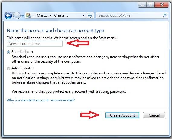 Cum adaug utilizator nou in Windows 7