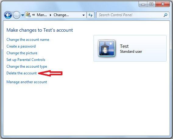 Cum sterg un utilizator in Windows 7
