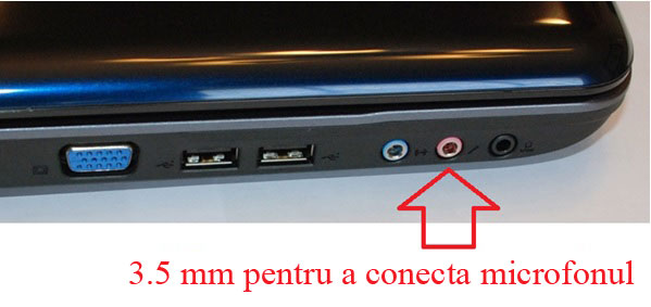 Cum conectez microfon la laptop