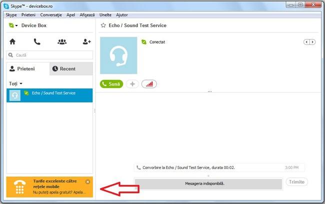 Cum elimin reclama din Skype