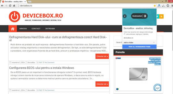 Marcaje vizuale de la Google - extensia oficiala Bookmark Manager