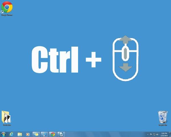 Cum micsorez iconitele de pe desktop