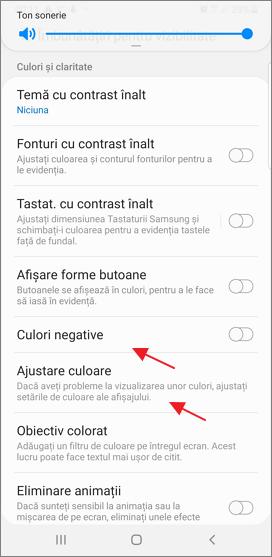 Ajustarea culorilor pe Android