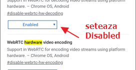 Dezactiveaza decodarea video hardware in browser Android