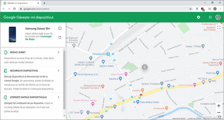 Cauta telefonul Android pa harta Google