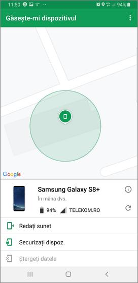 Cautarea telefonului de pe alt telefon