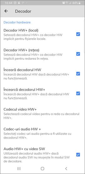 Setari decodare in MX Player