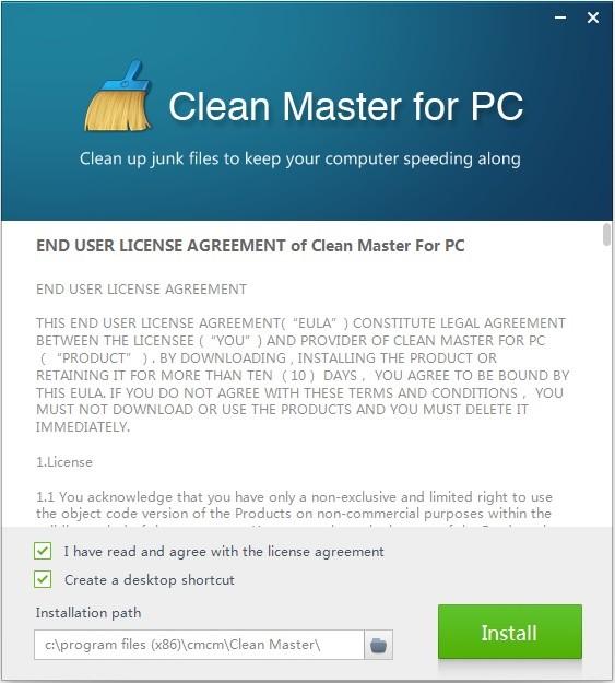 Clean Master for PC pentru curatarea sistemului