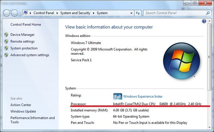 Cum aflu ce procesor am pe calculator