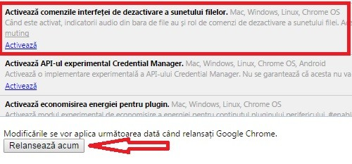 Cum activez butonul Mute in filele Google Chrome