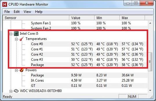 Care este temperatura normala a unui procesor