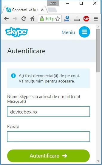 Skype online fara instalare