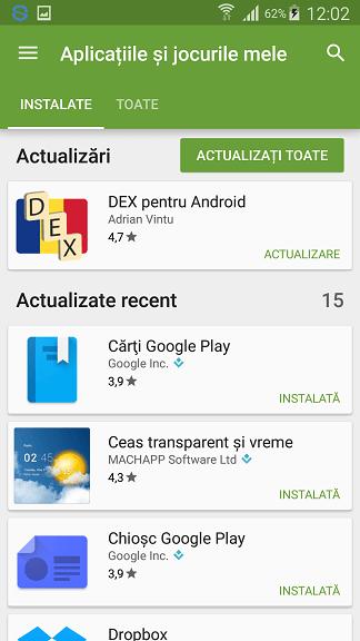 Cum dezactivez actualizarea automata a aplicatiilor in Google Play