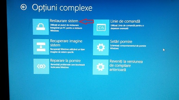Crearea unui punct de restaurare Windows 10