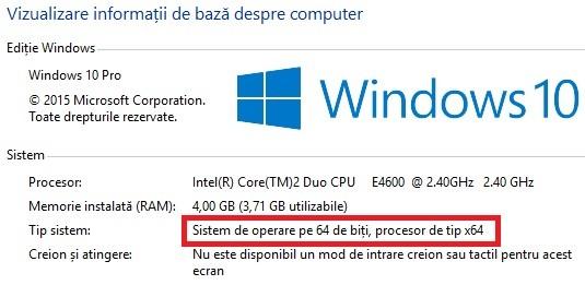 Cum poti afla versiunea Windows 10