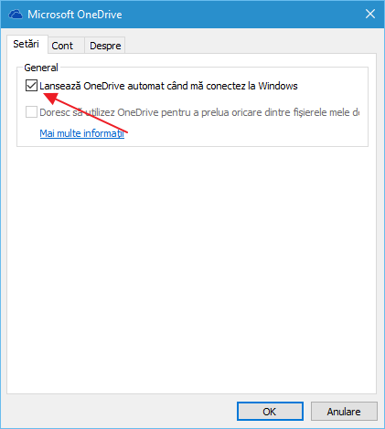 Cum se dezactiveaza si se elimina OneDrive in Windows 10