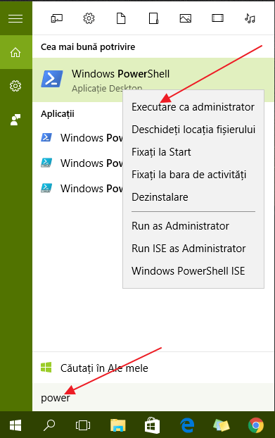 Cum pot elimina aplicatiile preinstalate in Windows 10 ?