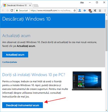 Cum sa fac stick USB bootabil cu Windows 10