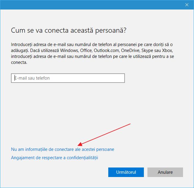 Cum se creaza un cont de utilizator in Windows 10