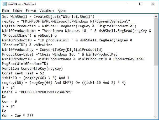 Cum pot afla cheia de licenta Windows 10