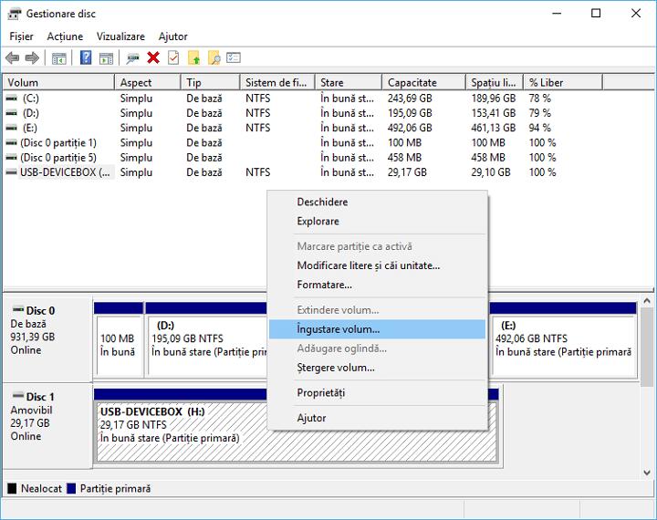 Cum creez partitii pe stick USB in Windows 10