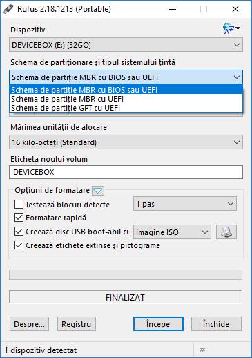 Stick bootabil nu este vazut in Boot Menu