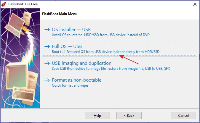 Instalarea Windows 10 pe stick USB in programul FlashBoot