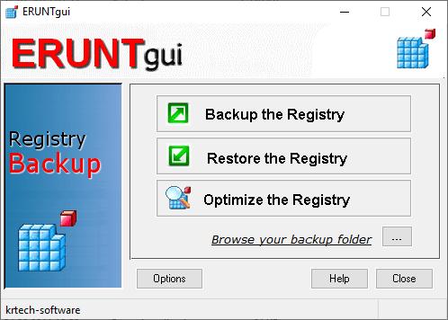 Copia de rezerva a registrului in ERUNTgui