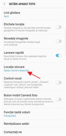 Setarea locatiei de stocare pentru fotografii si videoclipuri pe Samsung