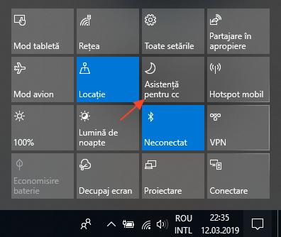 Cum se utilizeaza functia asistenta pentru concentrare in Windows 10