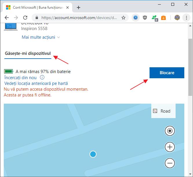 Cum se blocheaza de la distanta Windows 10 prin Internet