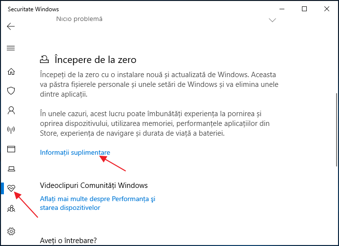 Instalarea automata curata Windows 10