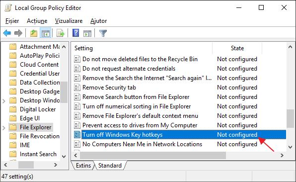 Cum se dezactiveaza tasta Windows