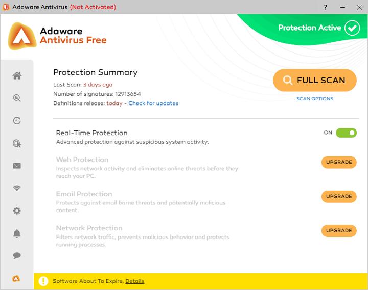 Antivirus gratuit Adaware