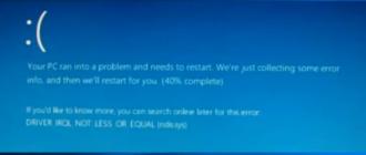 Ecran albastru ndis.sys in Windows 10, 8.1 si Windows 7