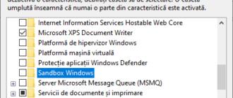 Activare Sandbox Windows 10