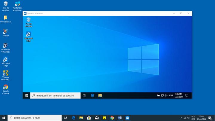 Sandbox pornit in Windows 10