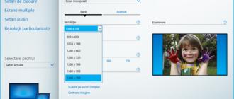 Schimba rezolutia ecranului in panou de control Intel