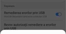 confirma activarea remedierea erorilor prin USB