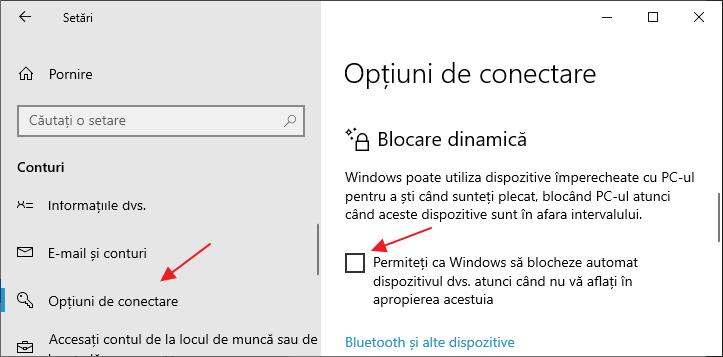 Dezactiveaza blocarea Windows 10 in modul repaus