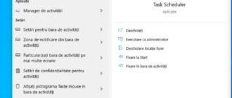 Porneste Task Scheduler utilizand cautarea