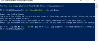 Setarea scripturilor PowerShell